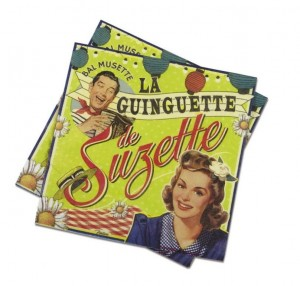 Serviettes en papier la guinguette de Suzette Natives
