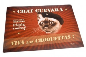 Tapis pour gamelles Chat Guevara Natives