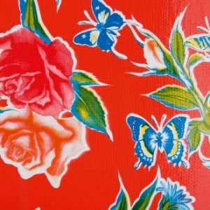 Toile cirée « Mariposas red » - Kitsch Kitchen