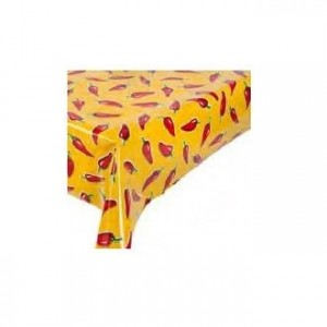 Toile cirée « Chiles red on yellow » - Kitsch Kitchen