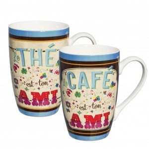 Coffret 2 mugs en porcelaine ton ami Natives