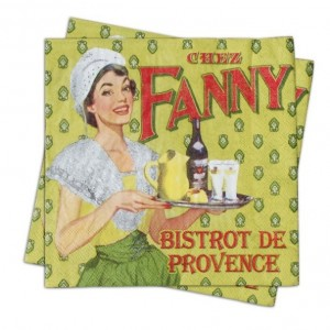 Serviettes en papier Fanny Natives