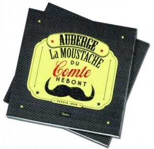 Serviettes en papier moustaches Natives