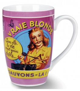Mug en porcelaine la vraie blonde Natives