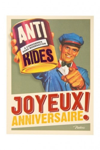 Carte postale anniversaire anti rides Natives