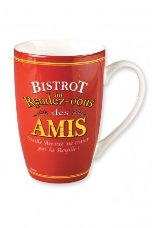 Mug en porcelaine bistrot des amis Natives