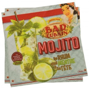 Serviettes en papier Mojito Cuba Natives