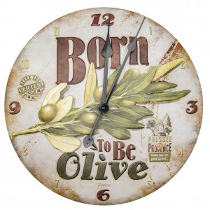 Horloge murale born to be olive Natives