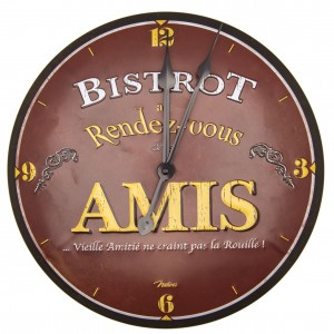 Horloge murale bistrot des amis Natives