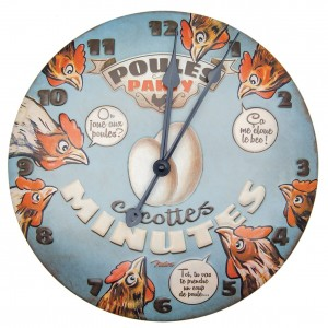 Horloge murale poules party Natives