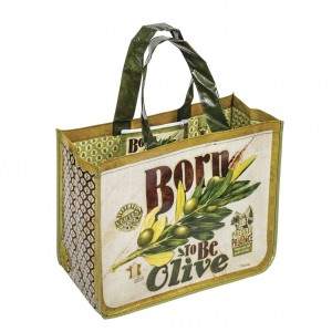 Cabas avec pochette born to be olive Natives
