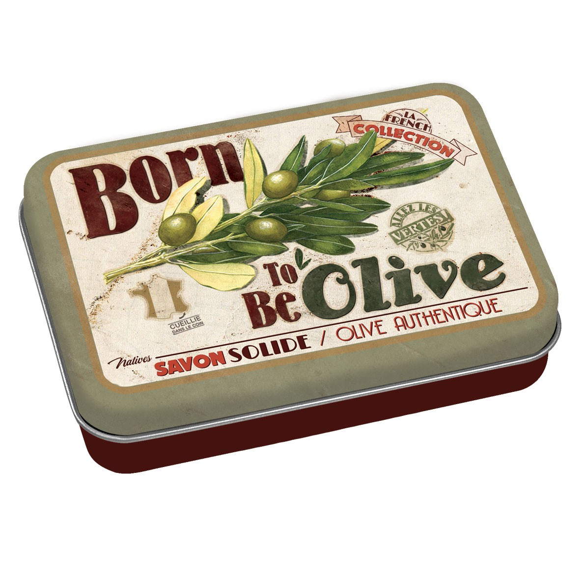 Savon born to be olive et sa boîte Natives