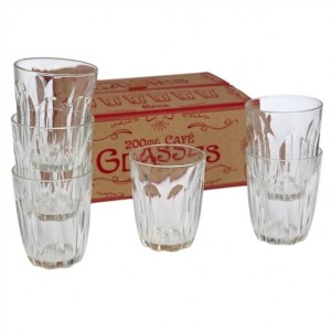 Set de 6 verres « Grand café classique » Rex International