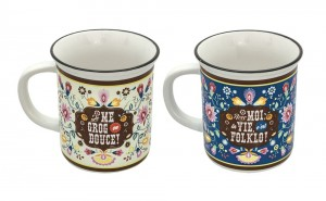 Coffret 2 mugs folklo Natives déco