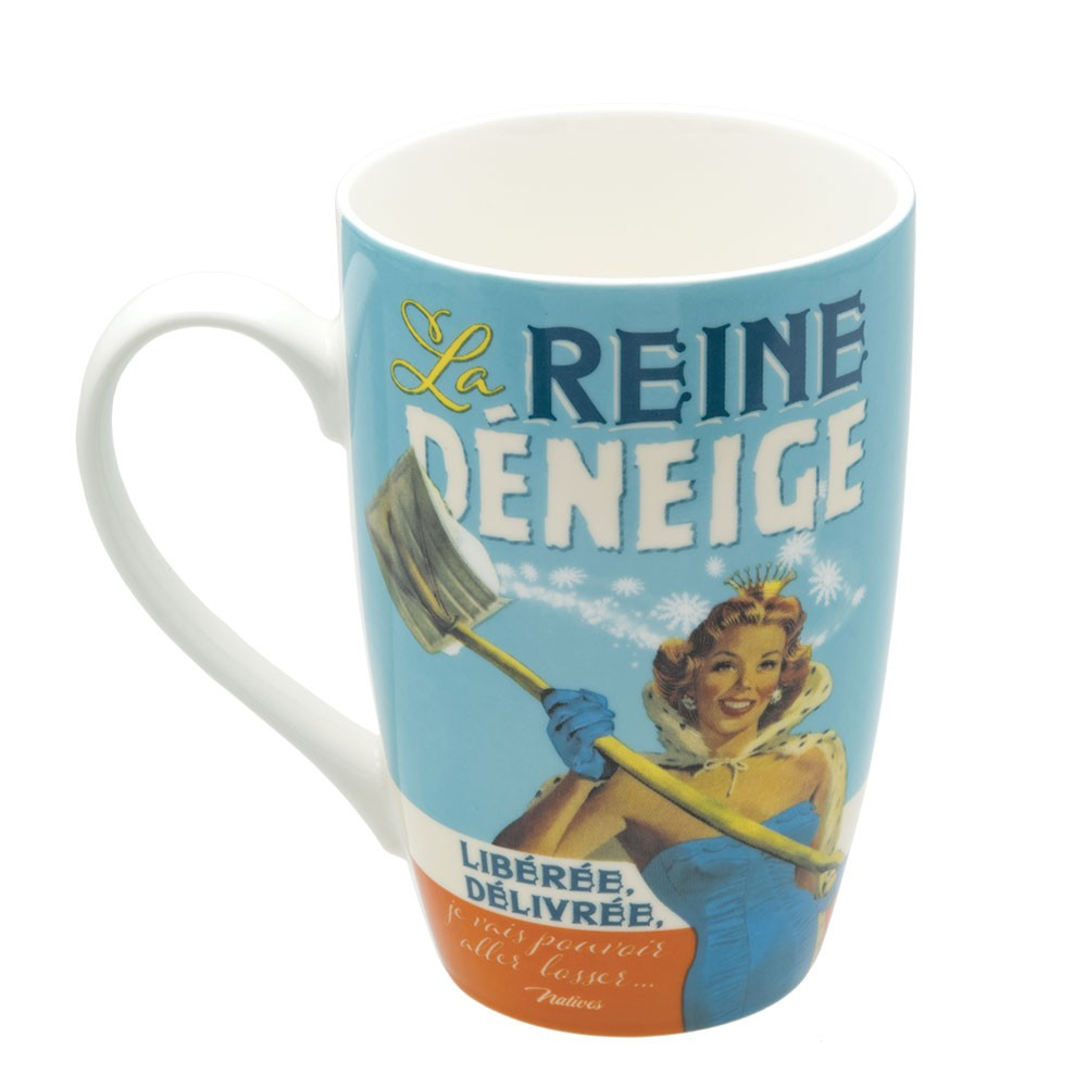 Mug en porcelaine la reine déneige Natives