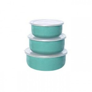 Set de 3 food containers « mint green » Kitsch Kitchen