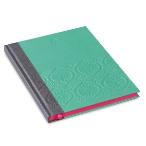 Cahier embossé turquoise Mr and Mrs Clynk
