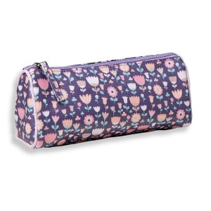 Trousse triangle fleurette violet Mini Labo