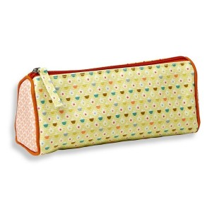 Trousse triangle confettis verts Mini Labo