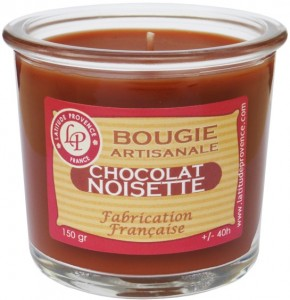 Bougie pot de confiture « Chocolat noisette » - Latitude Provence