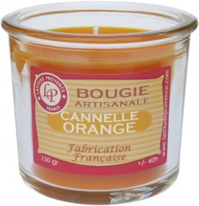 Bougie pot de confiture « Cannelle orange » - Latitude Provence