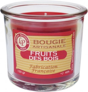 Bougie pot de confiture « Fruits des bois » - Latitude Provence
