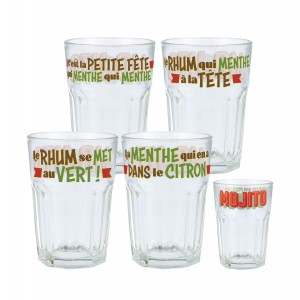 Coffret 4 verres Mojito Cuba Natives