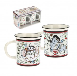 Coffret 2 mugs for ever Natives déco
