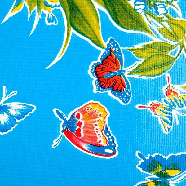 Toile cirée Mariposas light blue Kitsch Kitchen