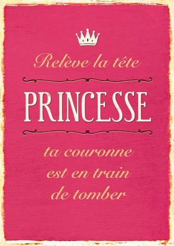 Carte postale relève la tête princesse Art Grafik
