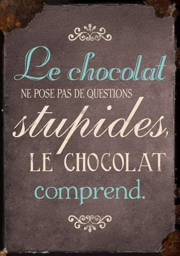 Carte postale le chocolat comprend Art Grafik