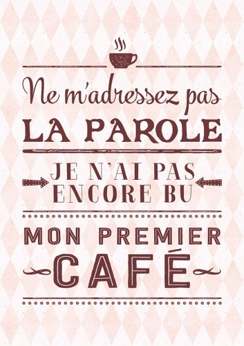 Carte postale mon premier café Art Grafik