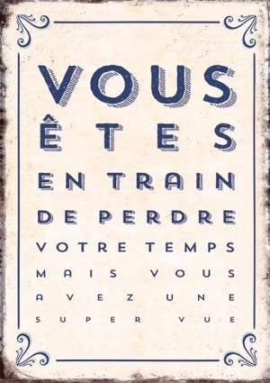 Carte postale vous êtes en train de perdre Art Grafik