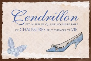 Plaque métal Cendrillon Art Grafik