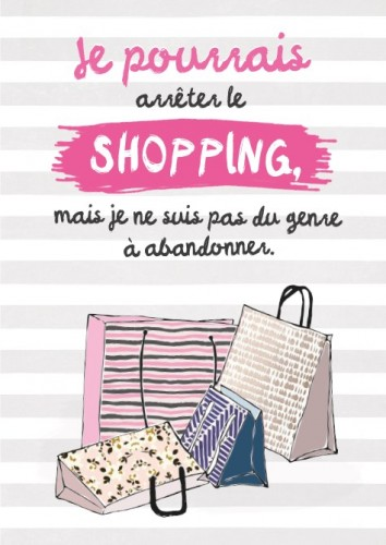 Carte postale double arrêter le shopping Art Grafik