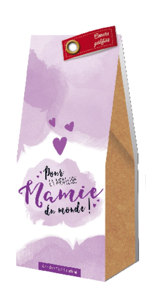 Grains de chocolat la meilleure mamie Art Grafik