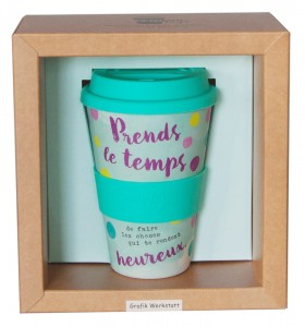 Mug thermo bambou prends le temps Art Grafik