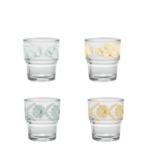 Set de 4 verres moon Duralex Mr and Mrs Clynk