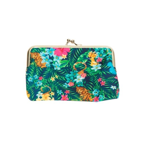 Porte monnaie clip tropical Kitsch Kitchen