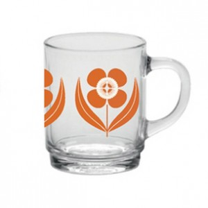 Mug fleur orange Duralex Mr and Mrs Clynk