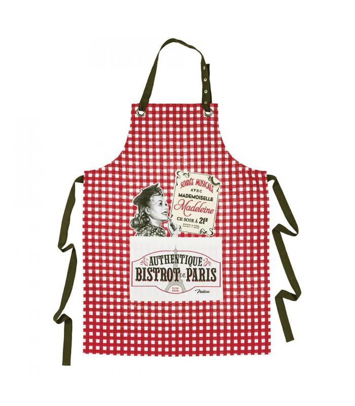 Tablier de cuisine bistrot de paris natives dans tes r ves for Tablier de cuisine plastifie