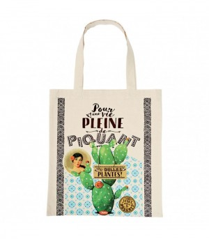 Tote bag en coton cactus Natives