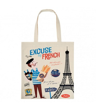 Tote bag en coton excuse my french Natives