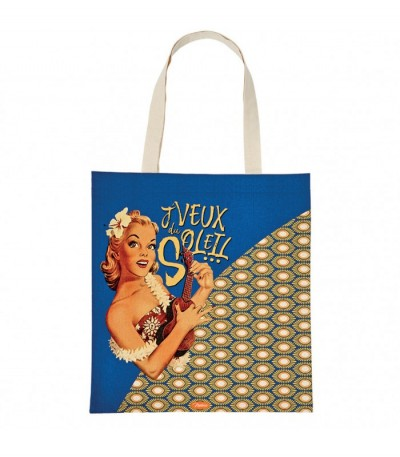 Tote bag en coton j'veux du soleil Natives