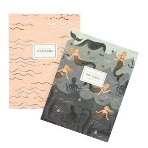 Set de 2 notebooks mermaid Rifle Paper Co
