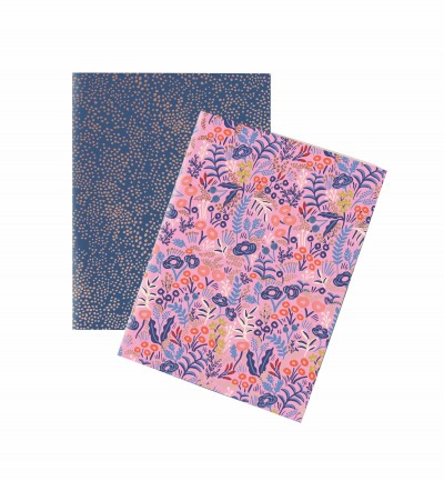 Lot de 2 carnets tapisserie Rifle Paper Co