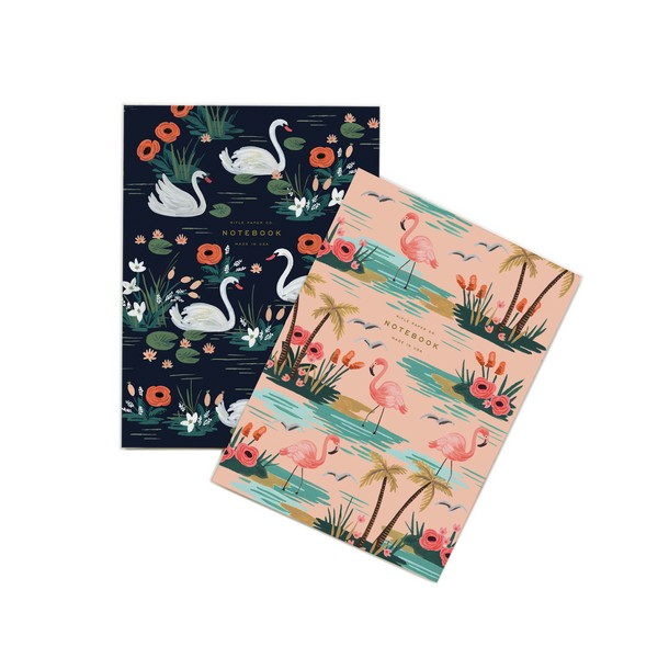 Set de 2 notebooks cygne Rifle Paper Co