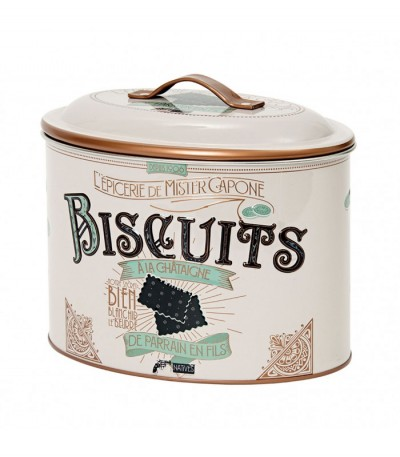 Boîte à biscuits ovale Mister Capone Natives