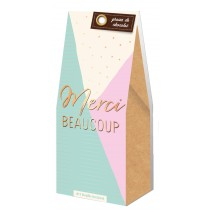 Grains de chocolat merci beaucoup Art Grafik
