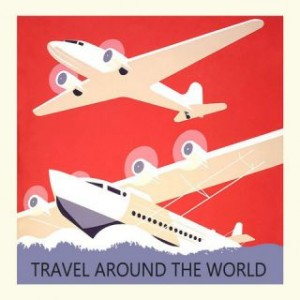 Carte postale travel around the world Gwenaëlle Trolez